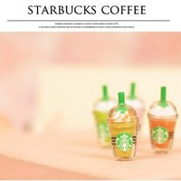 Starbucks Style Anti-Dust Earphone Jack for iPhone 4 and 4S (Brown)