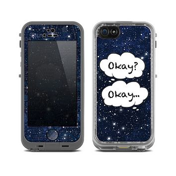 The Okay Speech Bubbles On Starry Sky Skin for the Apple iPhone 5c LifeProof Case