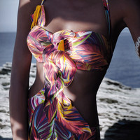 Nicole Olivier 2012: Amazone One Piece Bathing Suit Cut Out One Piece SAUVEUR | Swimwear Boutique