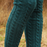 Something New Leg Warmers: Teal Green - One