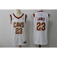 Basketball Jerseys Cleveland Cavaliers # 23 LeBron James White
