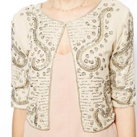 Jaded Rose Embellished Crop Jacket
