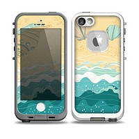 The Vector SeaShore Skin for the iPhone 5-5s fre LifeProof Case