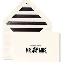 kate spade new york 'mr. & mrs.' thank you note cards - White (set of 10)