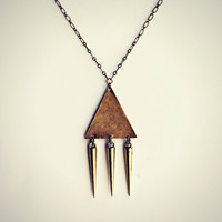 triangle spike necklace
