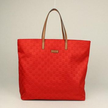 Gucci Tote bags 295252 Ladies Red Cow Leather HandBags