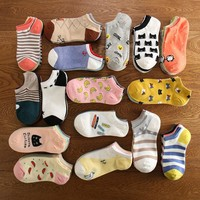 summer women cute cartoon cat pattern ankle socks  invisible cotton socks sweet fruit socks pig on boat socks 1pai=2pcs rws89