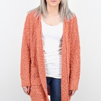 Cozy Wubby Open Cardigan w/ Pockets {Dusty Coral}