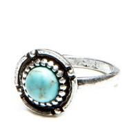 Brandy ♥ Melville |  Circular Turquoise Stone Ring - Accessories