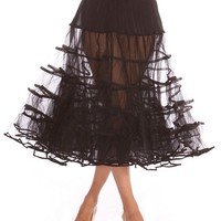#1 Rated 50's Poodle Skirt Costume Petticoat Crinoline, by Malco Modes! Great for vintage dresses, vintage prom dresses, other vintage styles. Tulle; Plus size petticoats available!