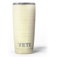 The Golden Honeycomb Pattern - Skin Decal Vinyl Wrap Kit compatible with the Yeti Rambler Cooler Tumbler Cups