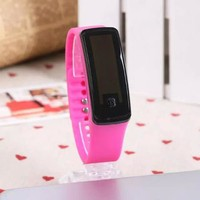 Womens Men Watch, Concise Silicone Band Digital LED Bracelet Wristwatch, Sports Running Watches for Men Women