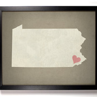 State Love Pennsylvania (Pictured In Mousse) Giclee, Art Print 8 x 10