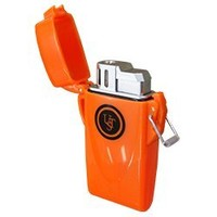UST Stormproof Floating Lighter (Orange) and WetFire Fire Starting Tinders (package of 12) by Ultimate Survival Technologies - Butane Lighter has waterproof case. Greating addition to hiking gear, camping equipment, survival bag, bugout bag, emergency kit,