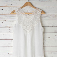 Lenore White Embroidered Tank