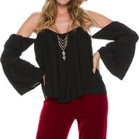 SWELL VALLARTA SHOULDER BELL SLEEVE TOP