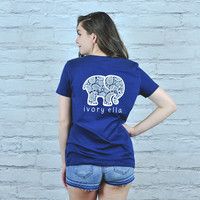 Perfect Fit True Navy Inverse Paisley Tee