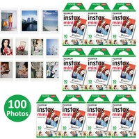 100 Sheets Fujifilm Instax Mini 8 film for Fuji Instax Mini 9 70 25 50s 90 SP-2 Instant Photo Camera Share SP-1 SP-2 White Film