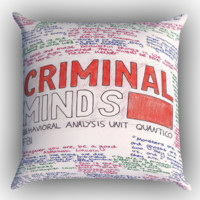 criminal minds quotes X1662 Zippered Pillows  Covers 16x16, 18x18, 20x20 Inches