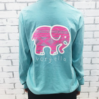 Pocketed Chalky Mint Neon Pink Aztec Print