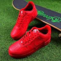 Tagre™ ONETOW Best Online Sale Nike Air Force 1 Low All Red Men Women Sport Shoes Sneaker