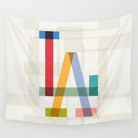 LA Wall Tapestry by Fimbis