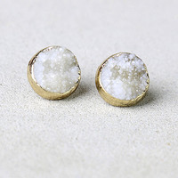 Dream Walking Gold and Ivory Earrings