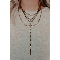 Check It Necklace: Gold/Black