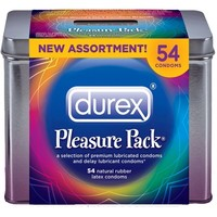 Durex Pleasure Pack Natural Rubber Premium Latex Condoms, 54 Count:Amazon:Health & Personal Care