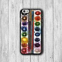 Color Set Painting WATERCOLOR iPhone 6 Case, Artist iPhone 6 Plus Cover, iPhone 5S, iPhone 4S Hard Case, Rubber Cover Art Accessories Gift