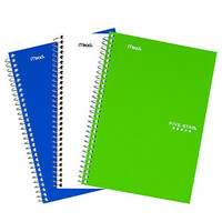 """Five Star Spiral Notebooks, College Ruled, 100 Sheets, 9-1/2"""" x 6"""", Assorted Colors, 3 Pack (73709)"""