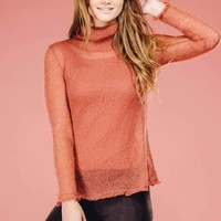 Rose Turtle Neck Top