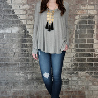 Basic Collection Draped Pullover Top