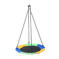 Outdoor 1M 40inch Saucer Rotate Tree Nest Swing 900D 600lbs Flying Giant Rope Round Swing  Camping Kids Game Gift (as picture)