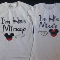 Free Shipping for US Im His Im Hers Mickey/Minnie Couples shirts