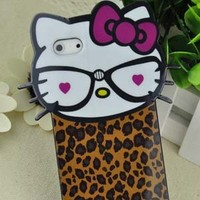 Big Head Hello Kitty Back Cover Case for Iphone 5 5G + free Accessory,gift from Opower