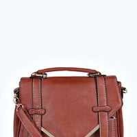 Charlotte Metal Trim Satchel Cross Body Bag