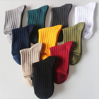 2016 New Arrival Solid Colors Girl Women's Fashion Cotton Socks Natural Colorful Cotton Knitted Japanese Pure Color Socks Women