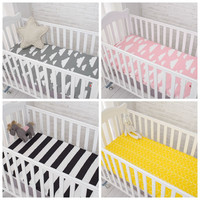 Cotton Baby Fitted Sheet Cartoon Crib Mattress Protector,baby bed sheet for crib size(130*70/120*60/120*65cm)