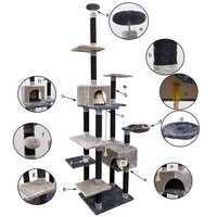 Cat Furniture&Scratch Pet Puppy Cat House Cat Tree Pet Training Play Toy Scratching Board Condo House.