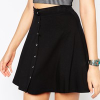 ASOS TALL Button Through Circle Skirt