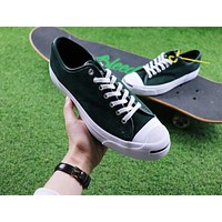 Polar Skate Co. x CONVERSE Jack Purcell Pro XO Dark Green Suede Skateboard Shoes Sneaker