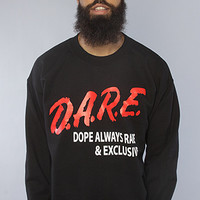 Twisted Mongoose DARE To Be Fly CrewneckBlack