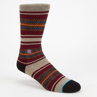 Stance Hart Mens Athletic Socks Red Combo One Size For Men 24710934901