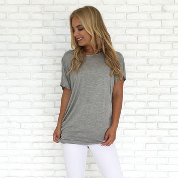 Cross With Honor Jersey Top In Grey