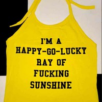 SWEET LORD O'MIGHTY! FUCKING SUNSHINE HALTER