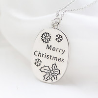 """""""Merry Christmas """"Letter Necklace"""
