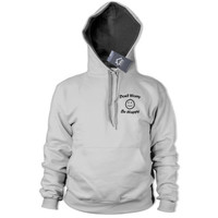 Dont Worry be Happy HOODIE POCKET PRINT Smiley Face Geek Mens Womens Top 427