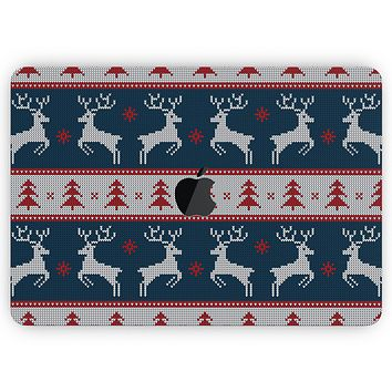 """Knitted Ugly Christmas Sweater V3 - Skin Decal Wrap Kit Compatible with the Apple MacBook Pro, Pro with Touch Bar or Air (11"""", 12"""", 13"""", 15"""" & 16"""" - All Versions Available)"""