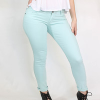 Blue Skinny Colored Jeans